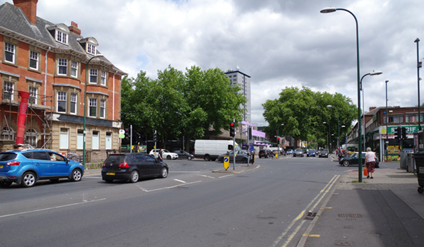 Junction of Gregory Boulevard and Radford Road