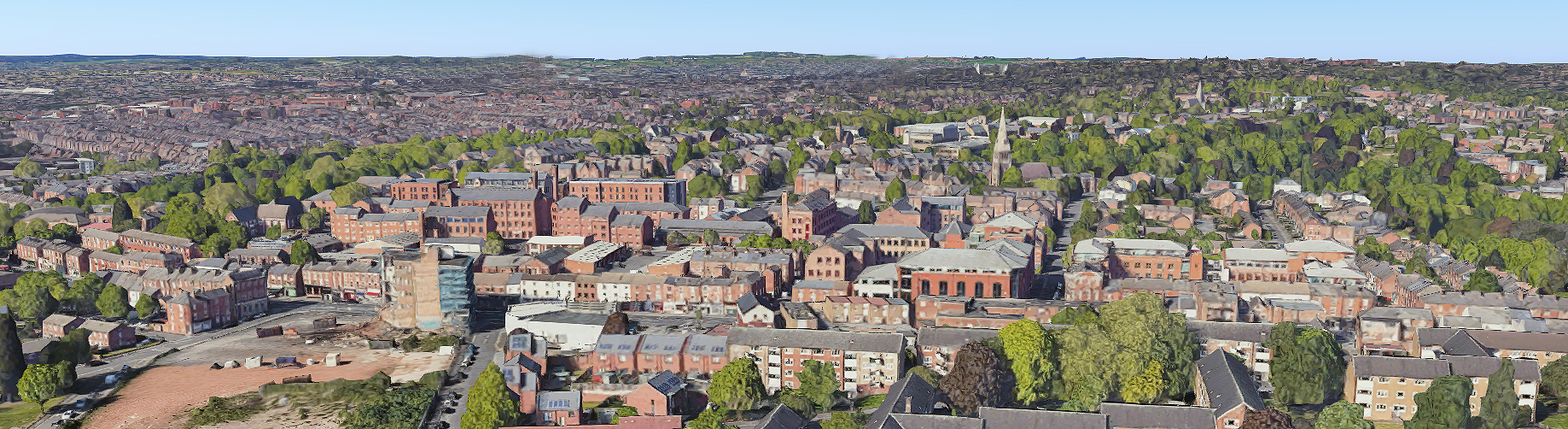 Aerial view of the Raleigh Street area of Radford, Nottingham